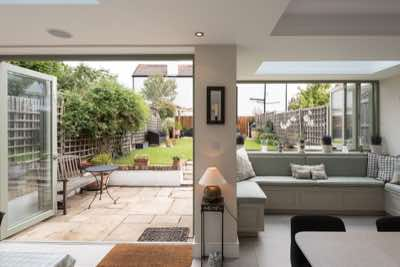 Rear and loft extensions, new bathroom, sitting room and landscaped garden
